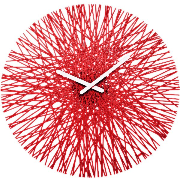 Koziol Silk Wall Clock Red