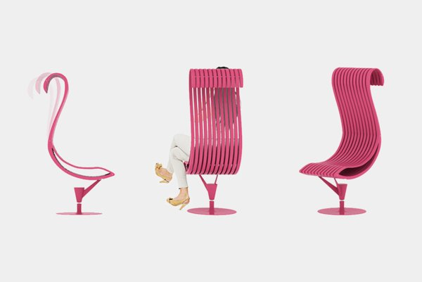 Unique-Chair-that-Mimics-Flamingos-Shape