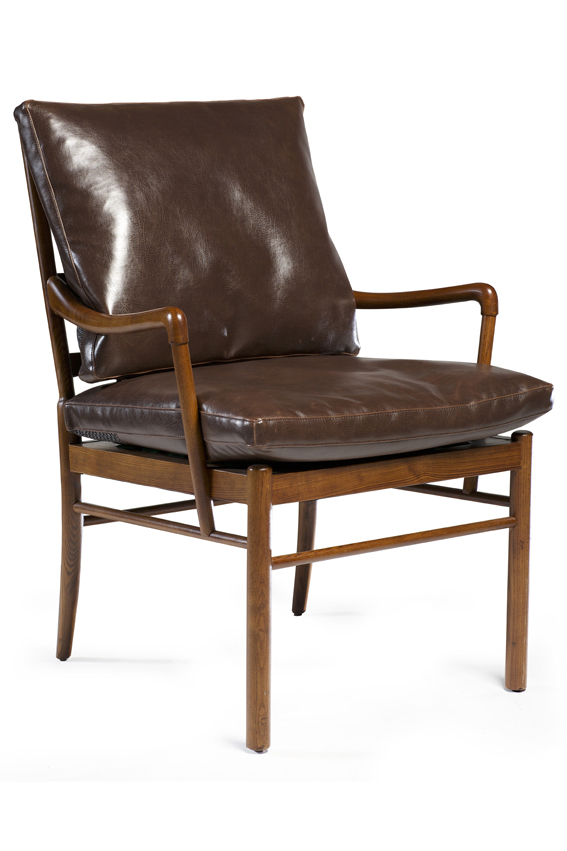 BOLOGNA LOUNGE CHAIR_brown art. leather_front