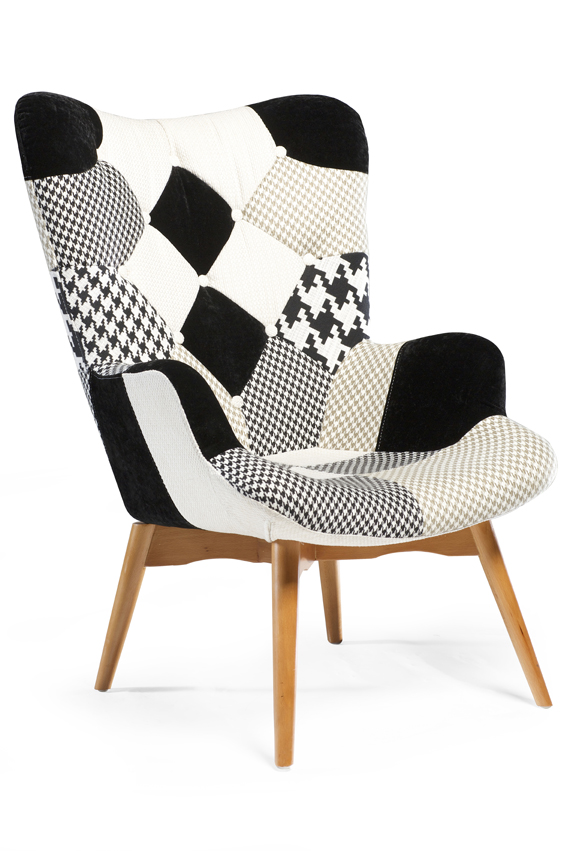 DATCH LOUNGE CHAIR_black&grey_front