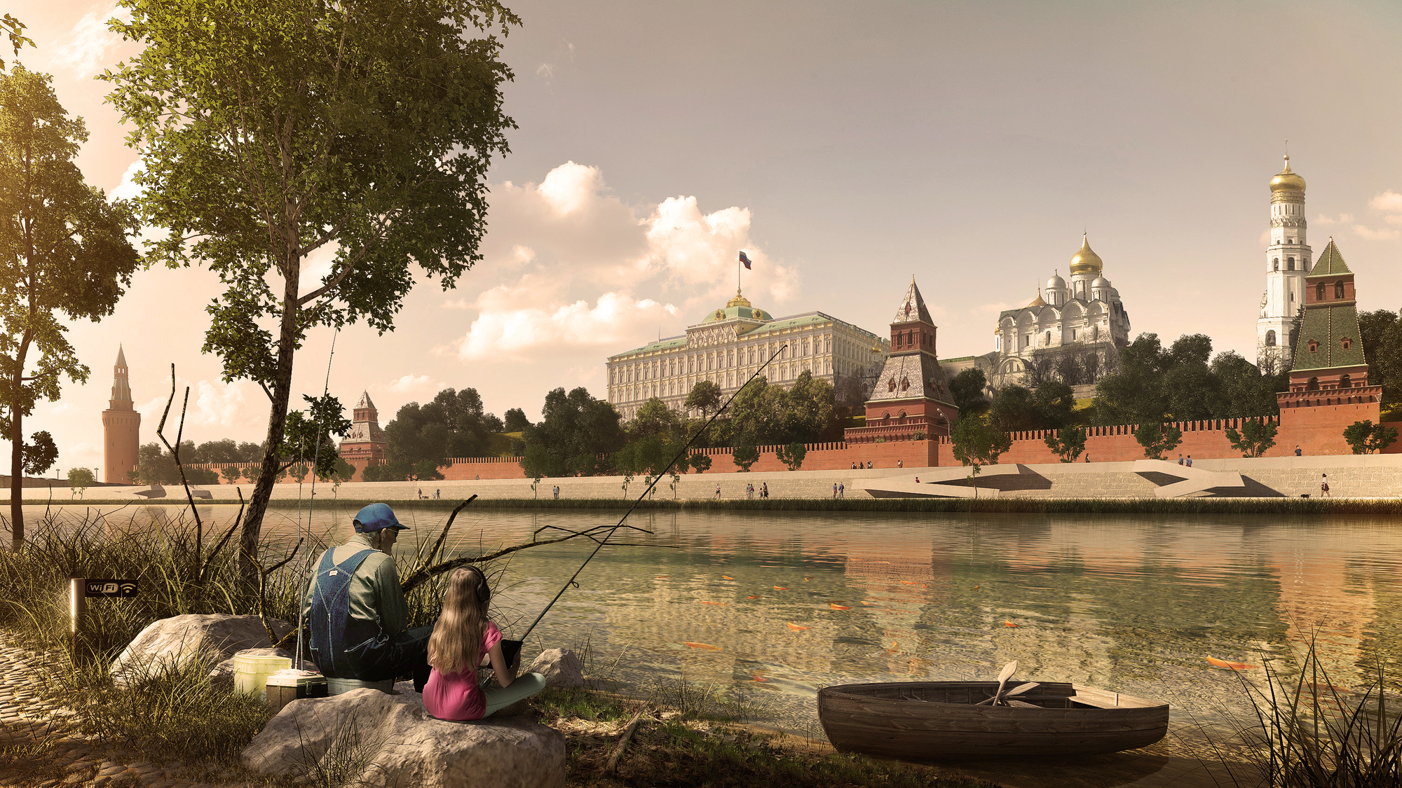 548a36bae58ece0d79000037_project-meganom-wins-contest-to-transform-moscow-riverfront_6-fishing_on_kremlin