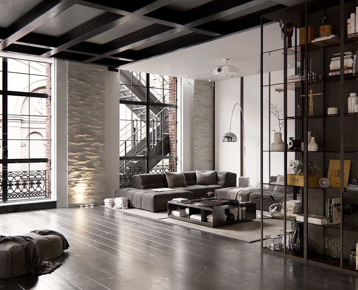Coffered-Ceilings-New-York-City-Loft