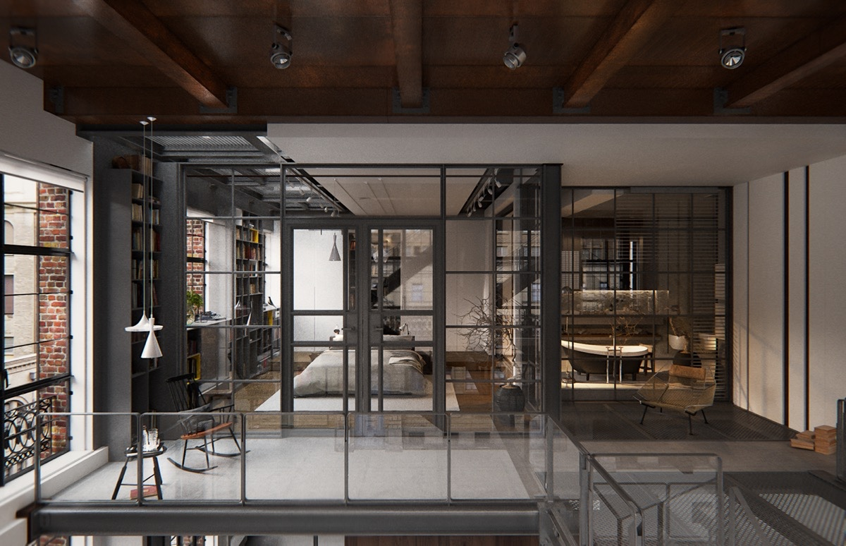 Glass-Walls-New-York-City-Loft