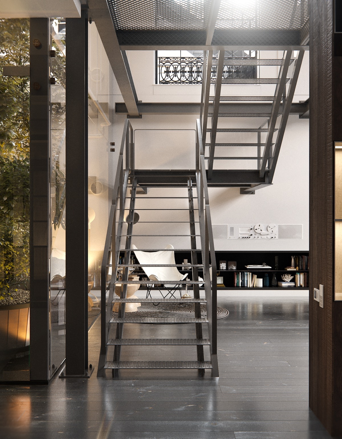 Industrail-Staircase-Loft