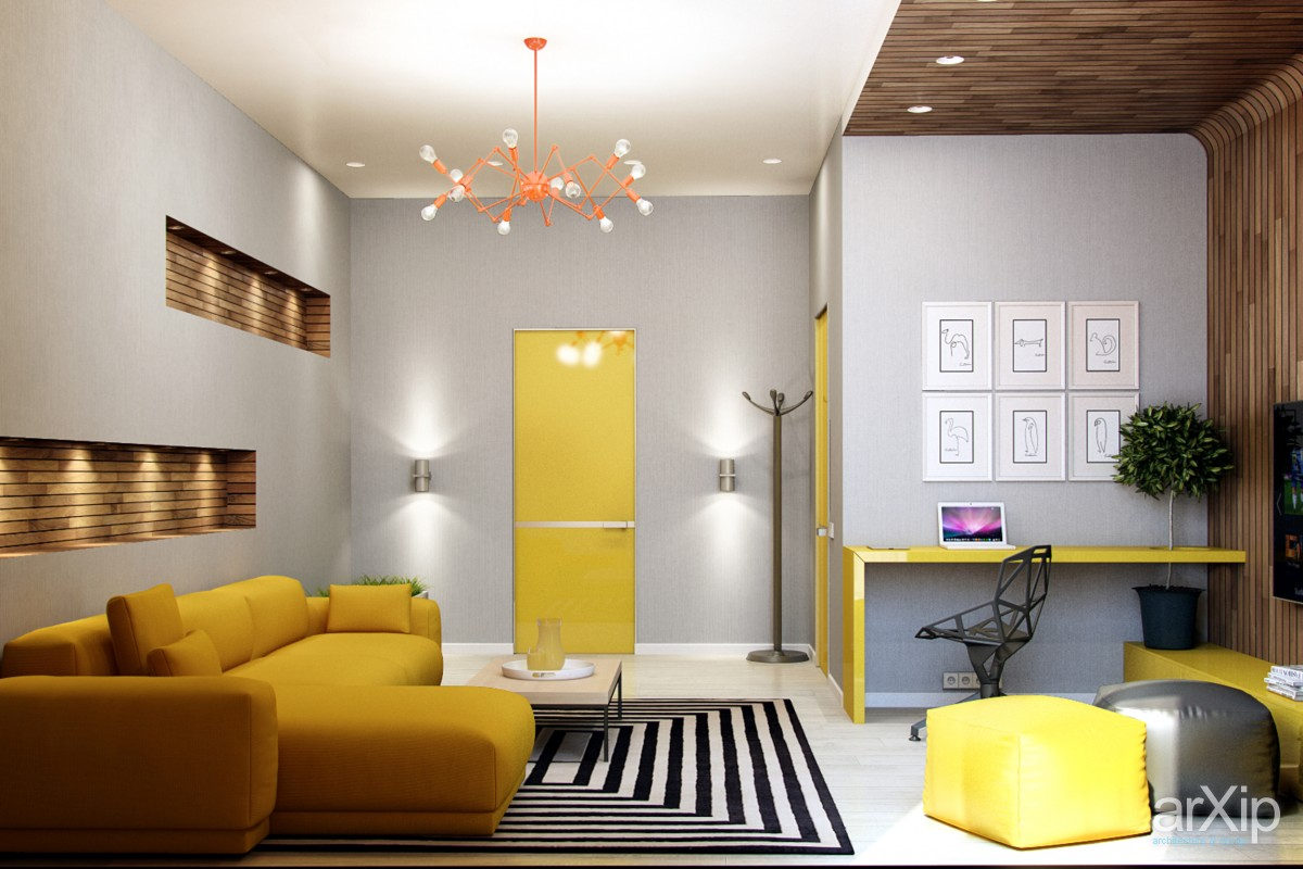 bright-yellow-interior-door