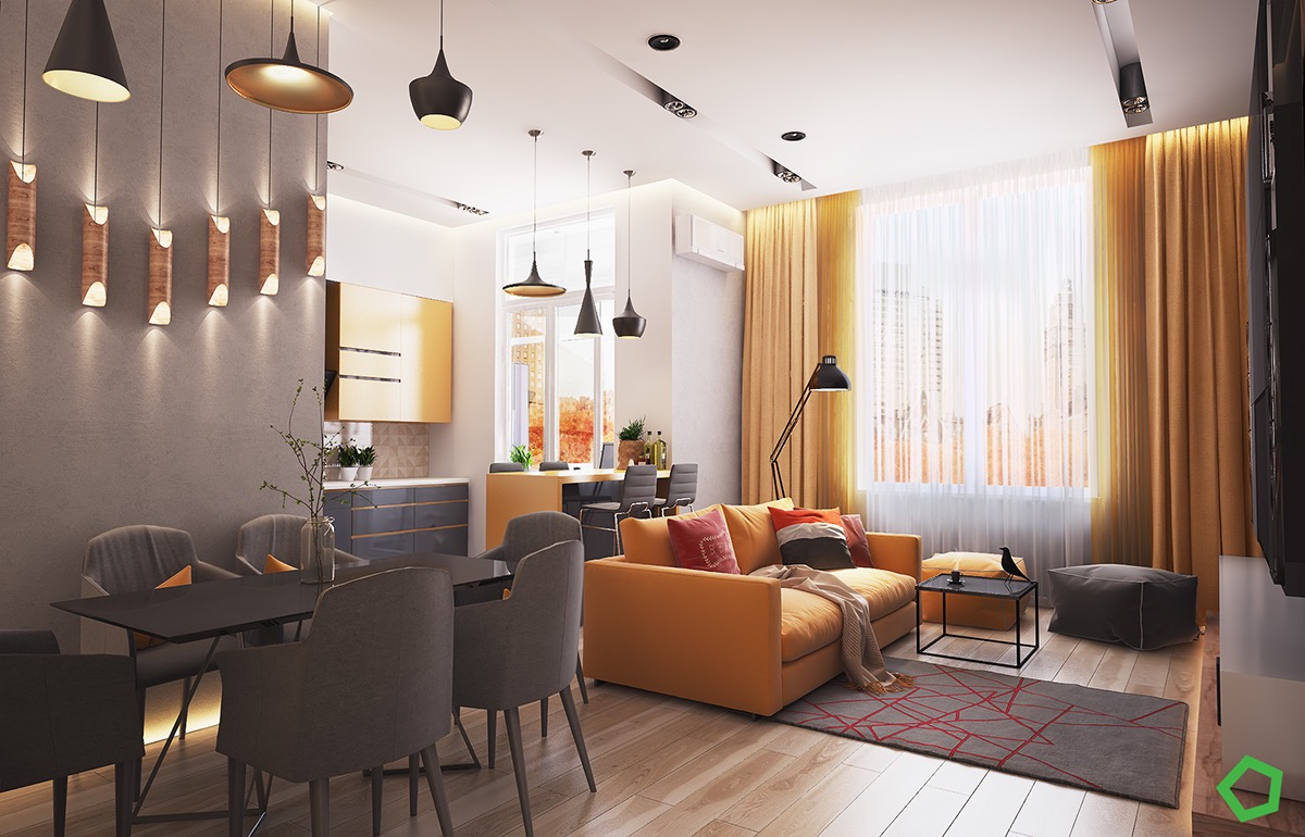 gray-and-yellow-apartment