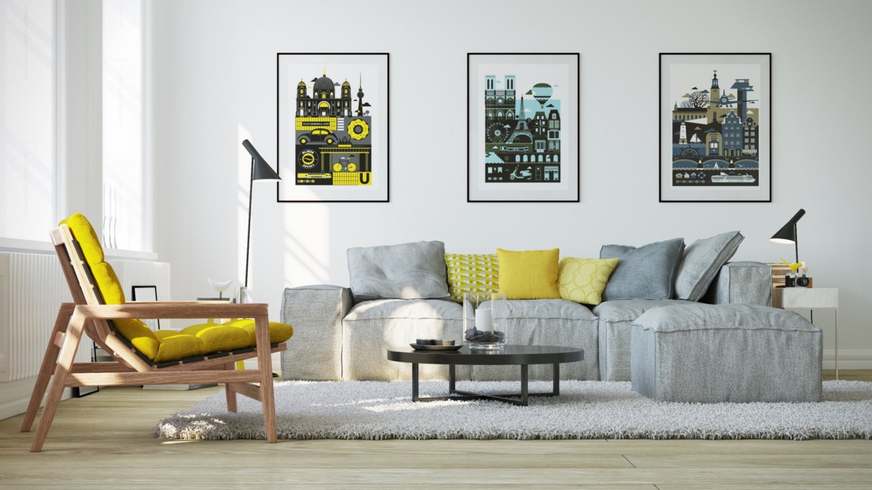 gray-and-yellow-living-room